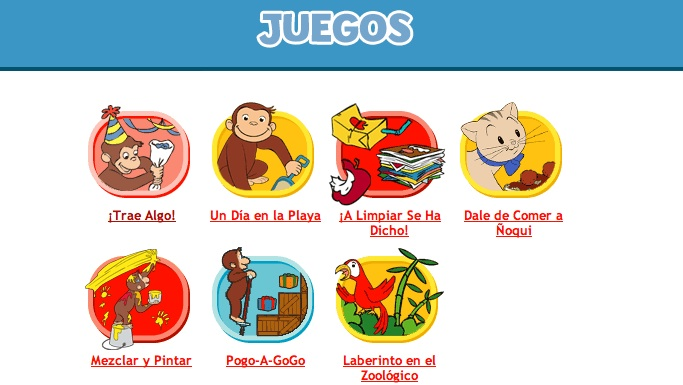 PBS kids Curious George juegos