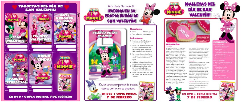 Disney, Minnie, san valentin, valentines day, activities